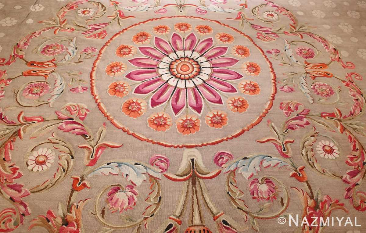 antique charles the x french aubusson rug 50171 medallion Nazmiyal