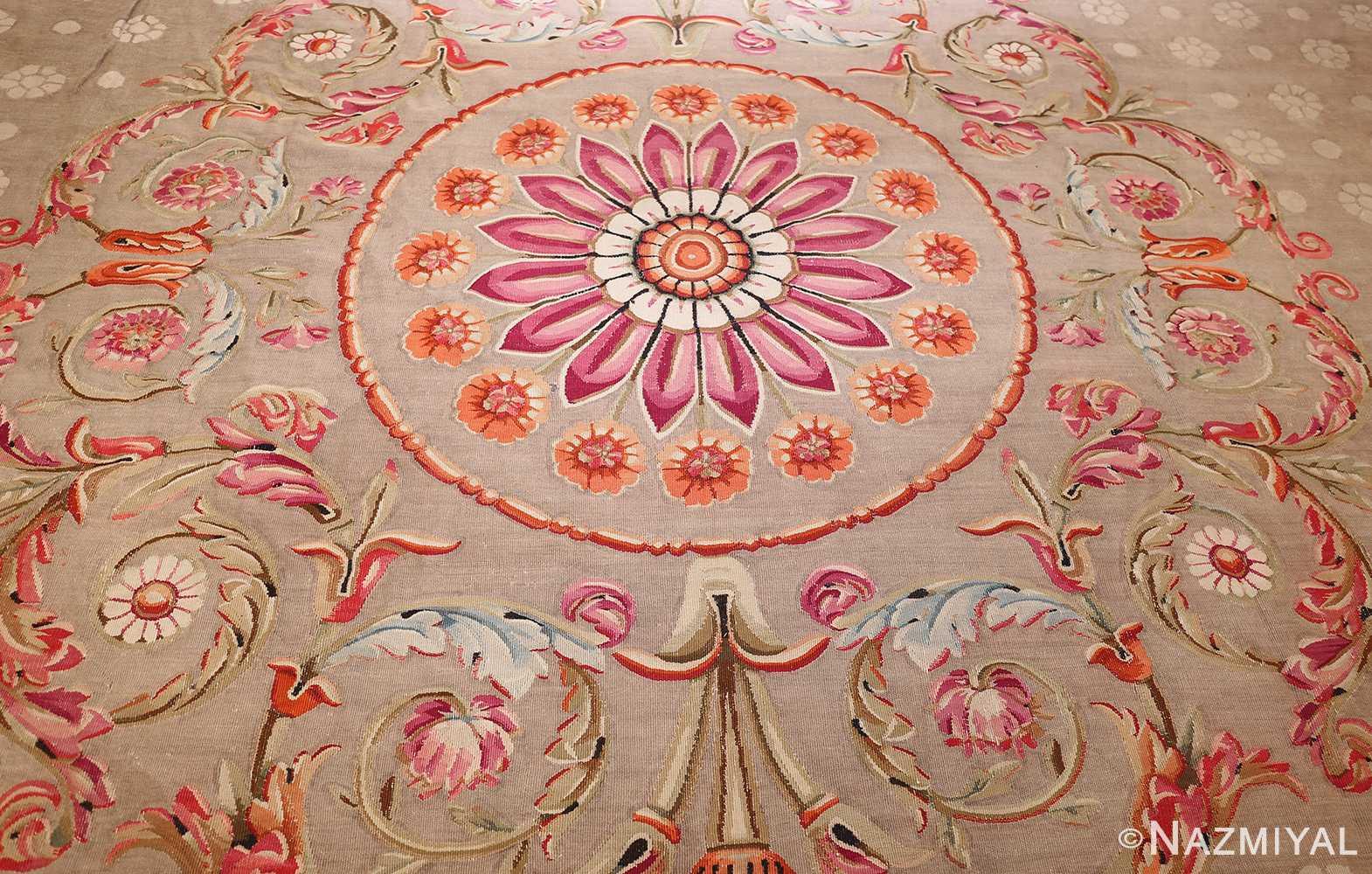 antique charles the x french aubusson rug 50171 medallion Nazmiyal