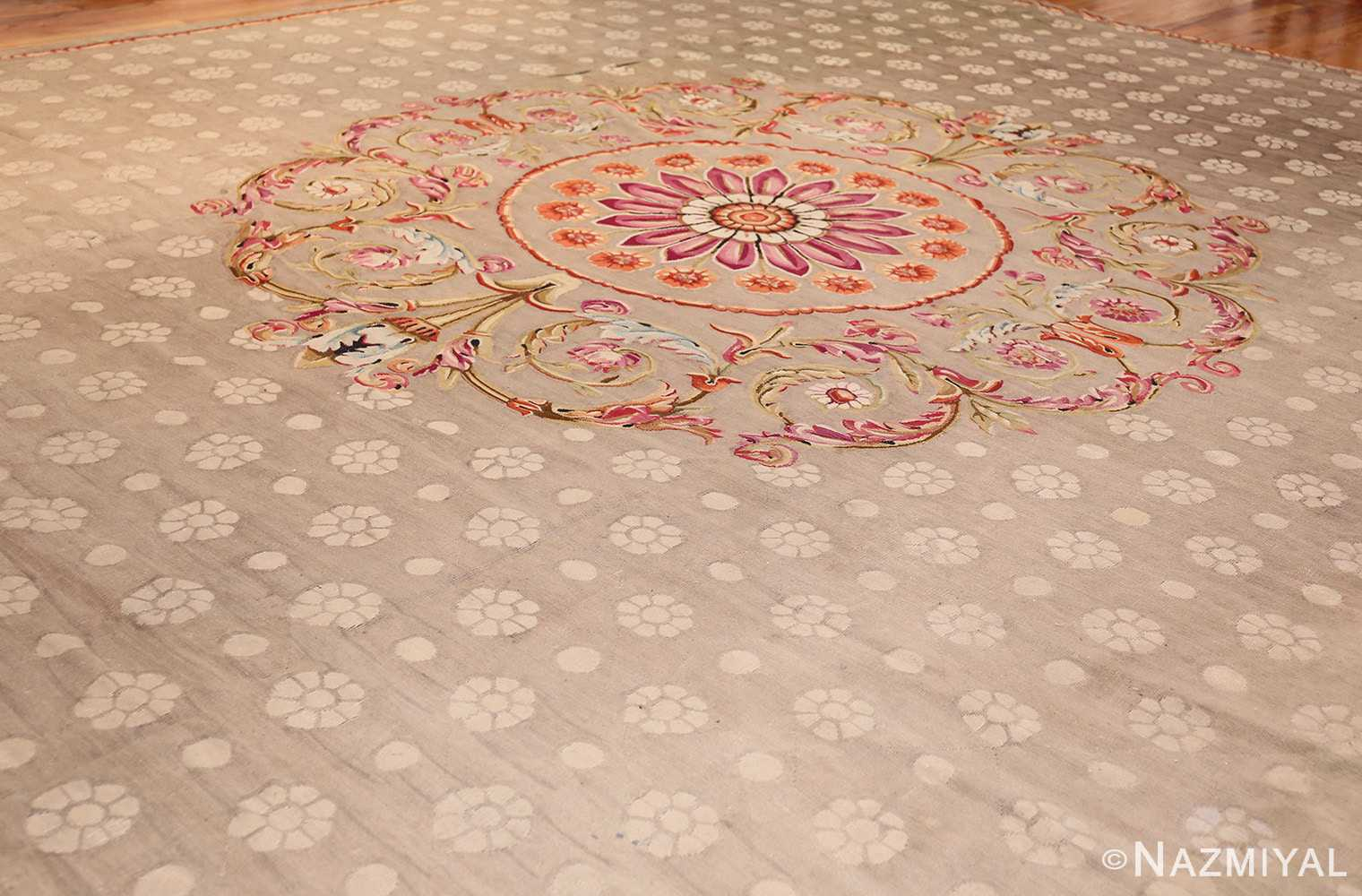 antique charles the x french aubusson rug 50171 side Nazmiyal