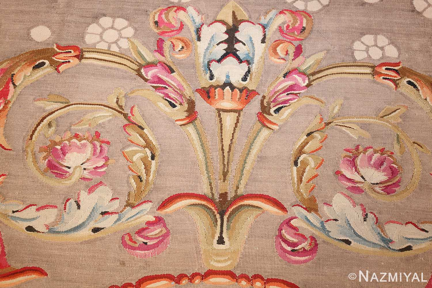 antique charles the x french aubusson rug 50171 torch Nazmiyal