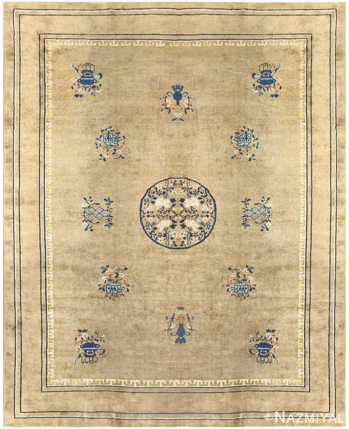 Antique Chinese Carpet 50096 Detail Large View