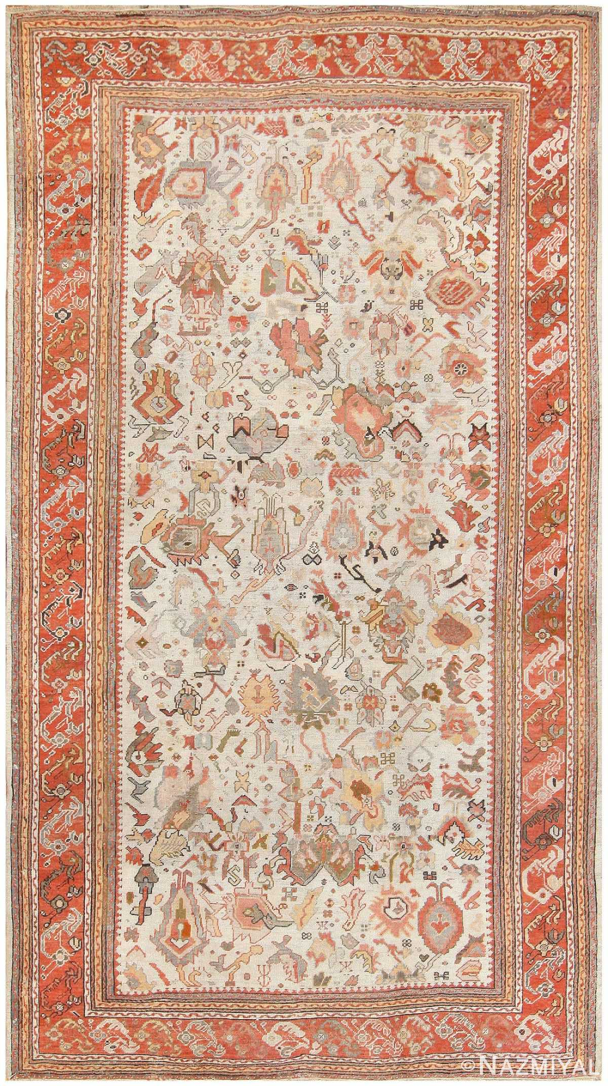 Antique Ghiordes Turkish Carpet 50133 Nazmiyal
