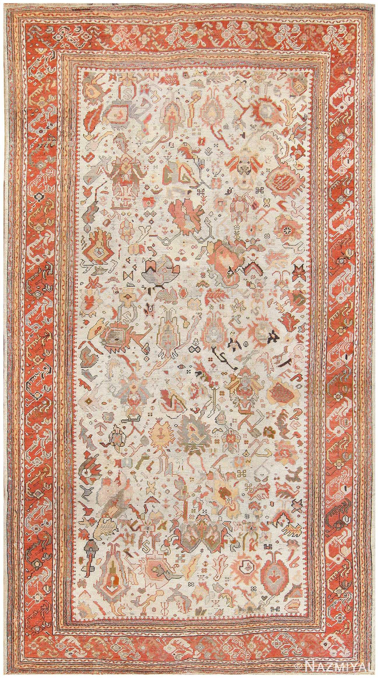 Antique Ghiordes Turkish Carpet 50133 Nazmiyal