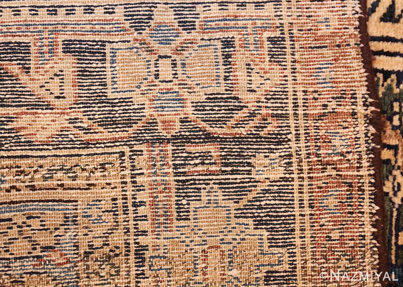 antique malayer persian carpet 50204 weave Nazmiyal