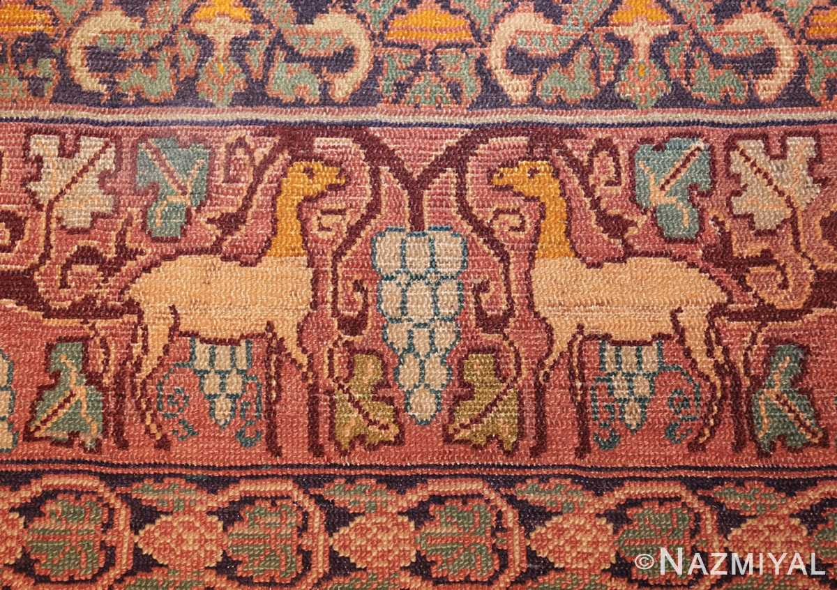 antique marbediah israeli carpet 47504 border Nazmiyal