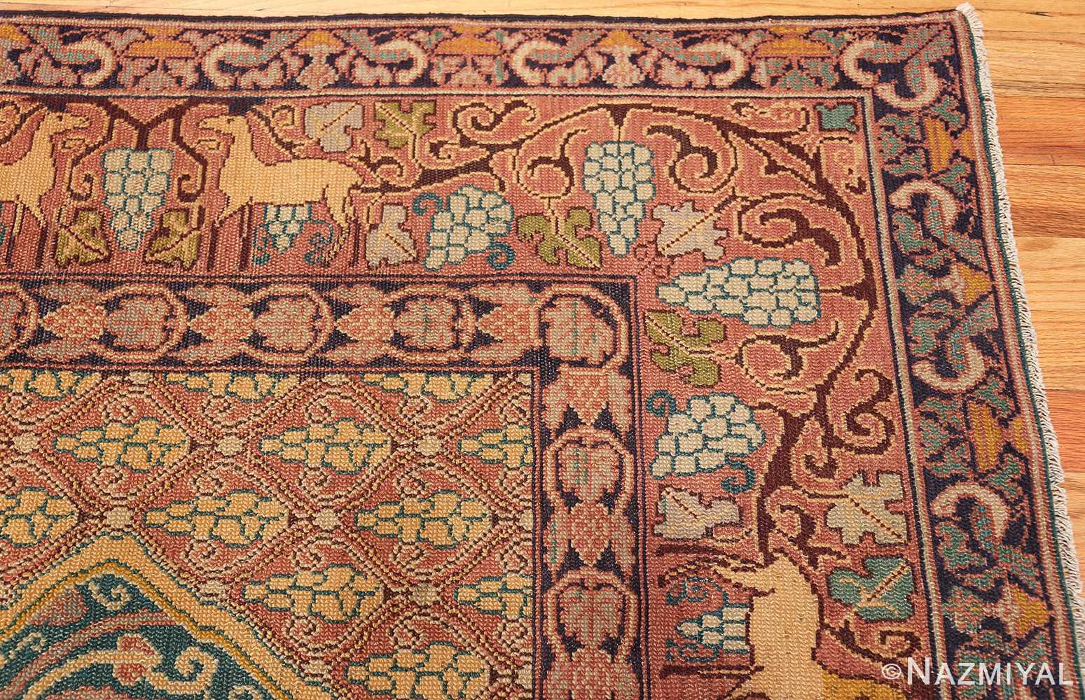 antique marbediah israeli carpet 47504 corner Nazmiyal