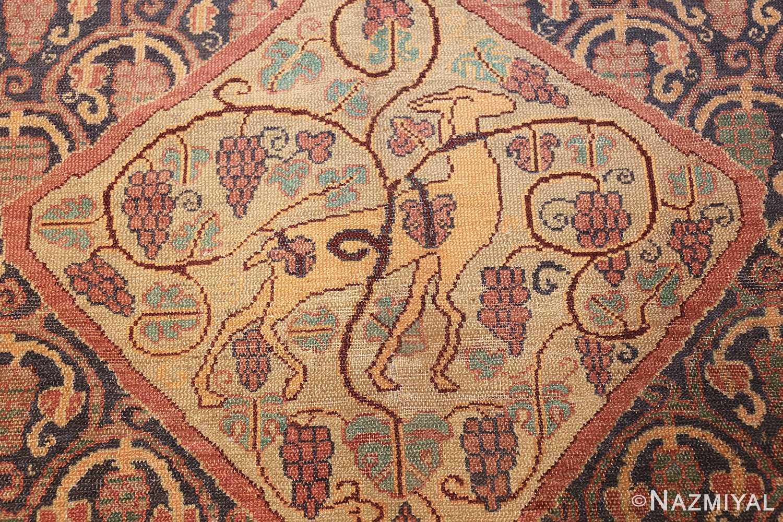antique marbediah israeli carpet 47504 deer Nazmiyal