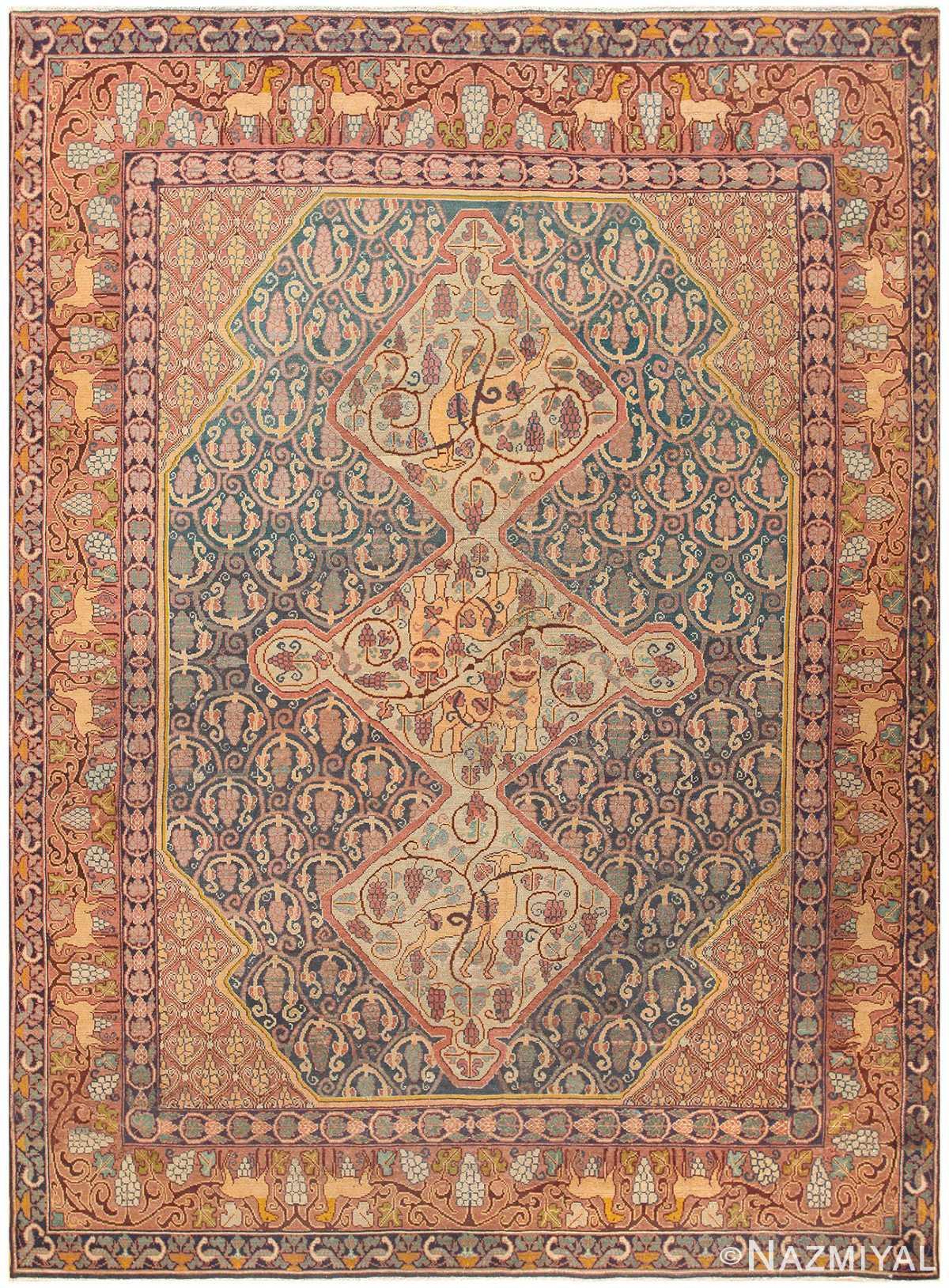 Antique Marbediah Israeli Carpet 47504 Nazmiyal
