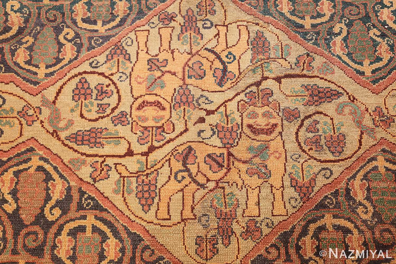 antique marbediah israeli carpet 47504 dogs Nazmiyal