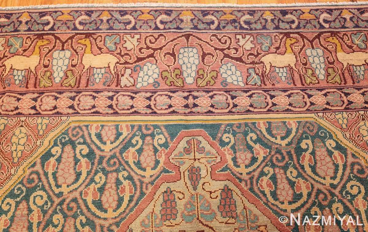 antique marbediah israeli carpet 47504 top Nazmiyal