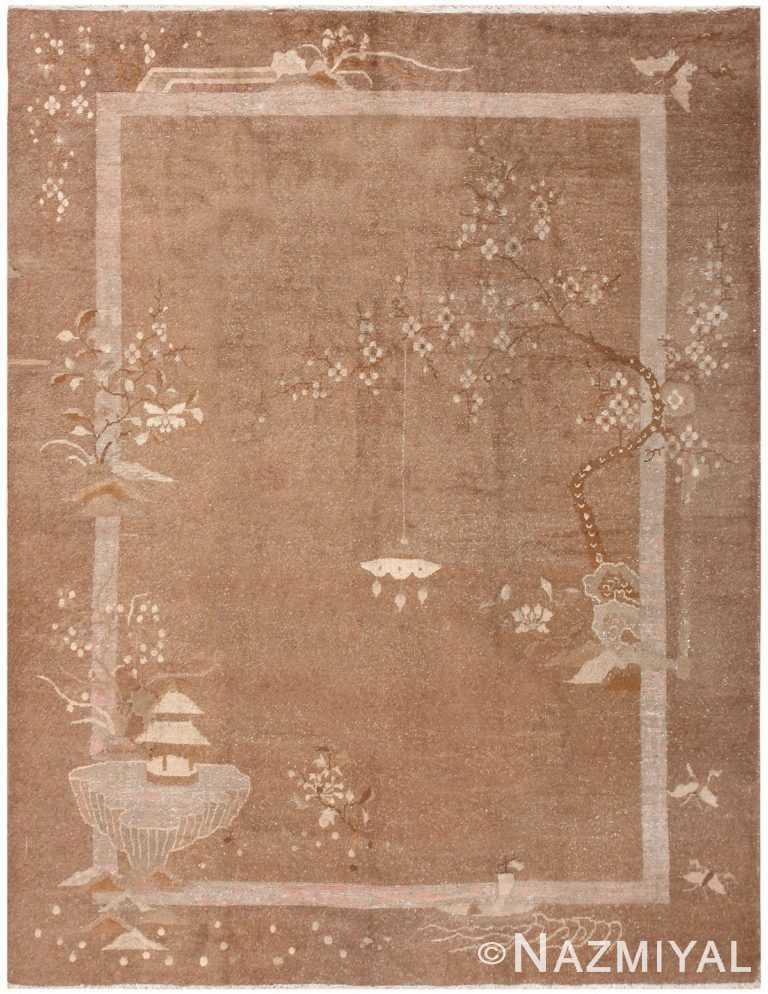 Antique Mongolian Carpet Room Sized 50207 Nazmiyal