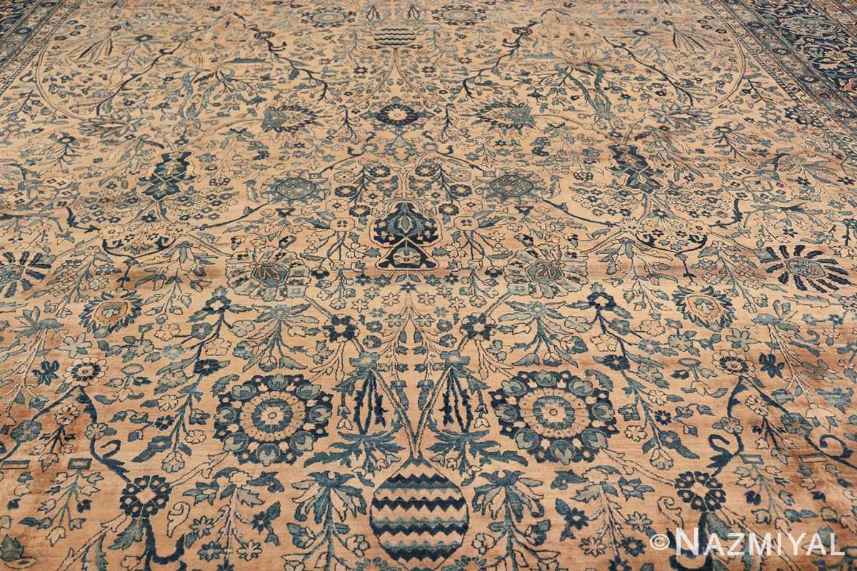 Antique Oversized Persian Kerman Carpet 50113 Field Design Nazmiyal