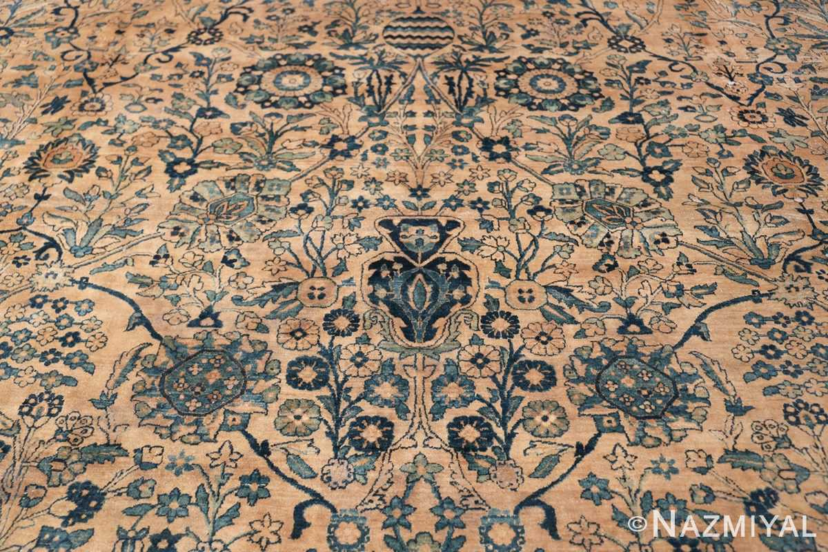 Antique Oversized Persian Kerman Carpet 50113 Middle Scrolls Nazmiyal