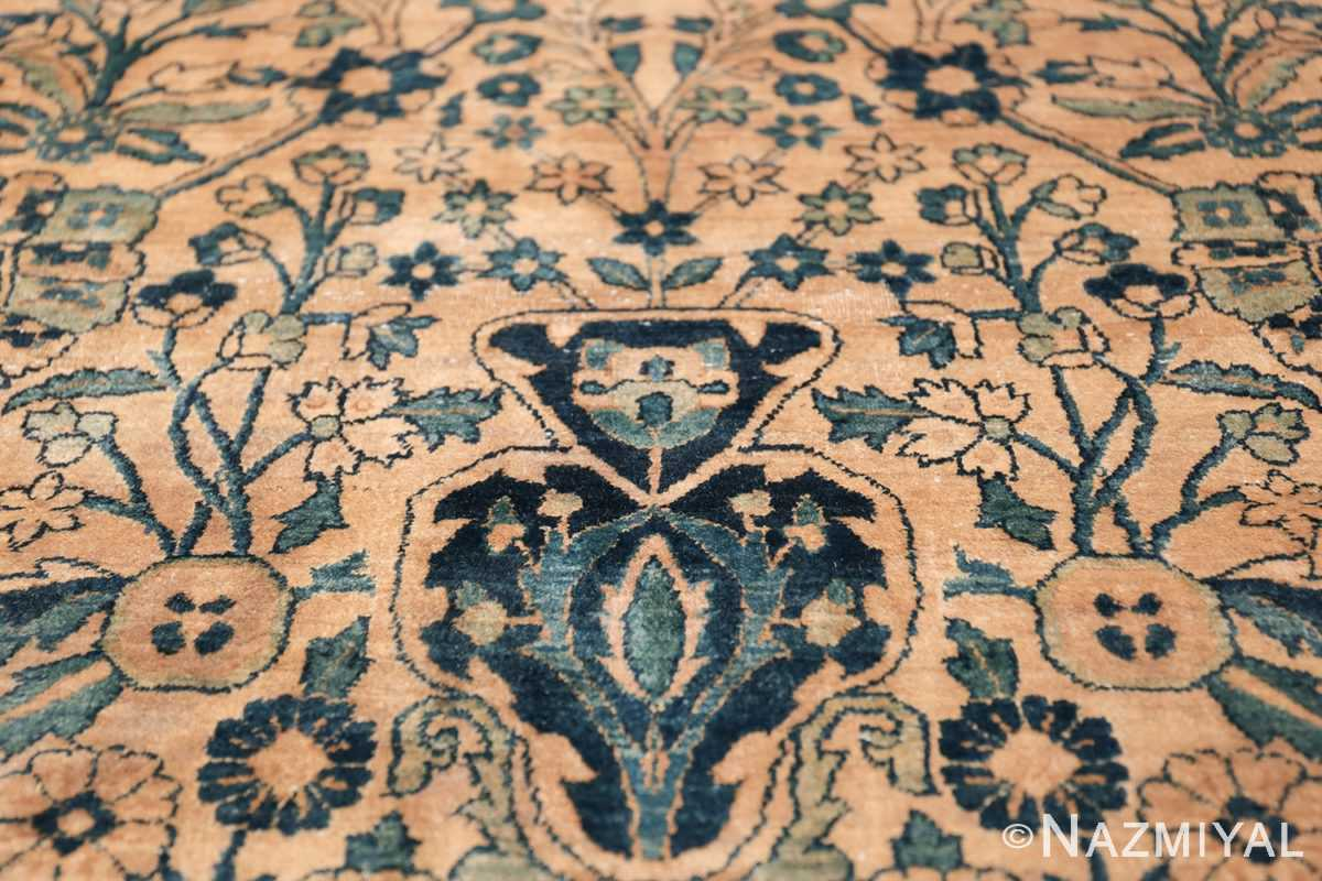 Antique Oversized Persian Kerman Carpet 50113 Vase Dark Side Nazmiyal
