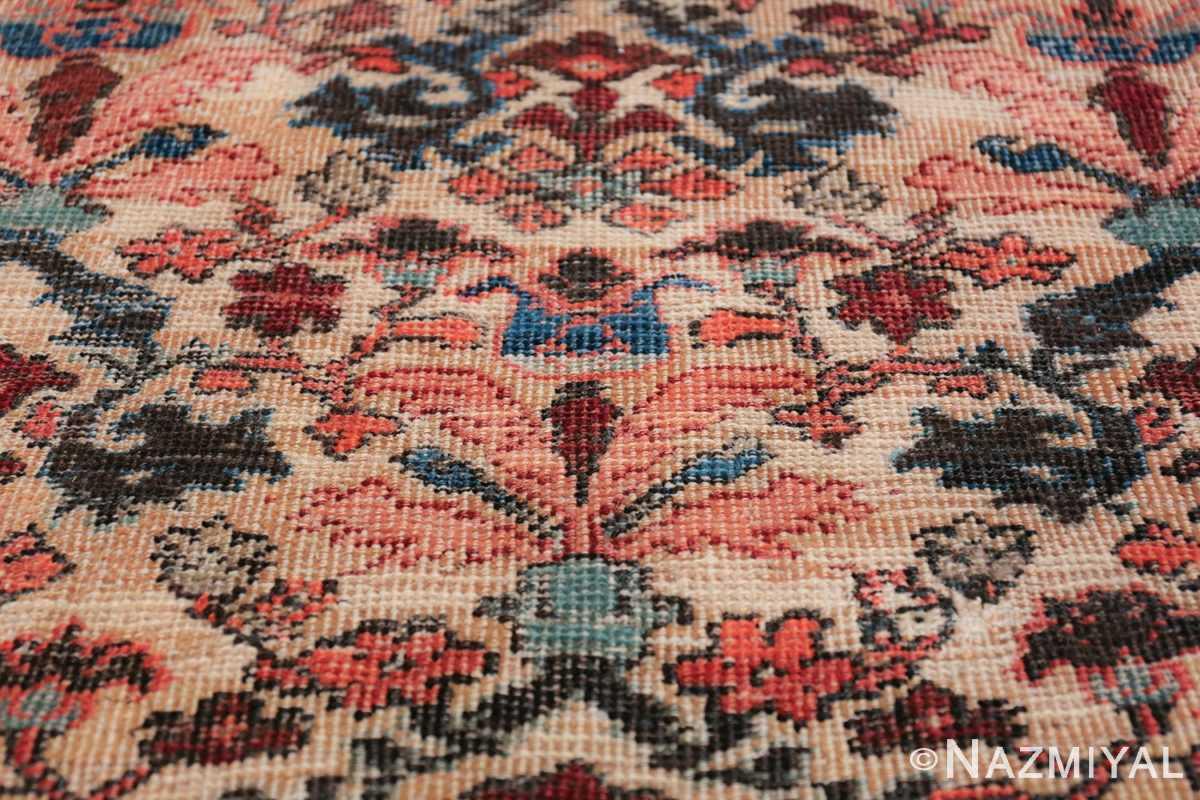 Antique Persian Farahan Carpet 50116 Blue Flower Nazmiyal