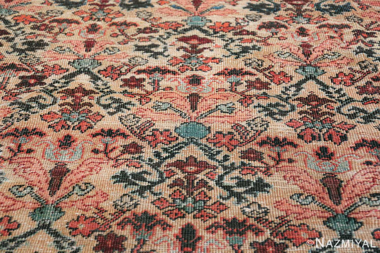 Antique Persian Farahan Carpet 50116 Closeup Texture Nazmiyal