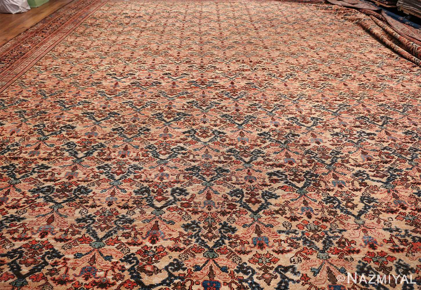 Antique Persian Farahan Carpet 50116 Whole Design Nazmiyal