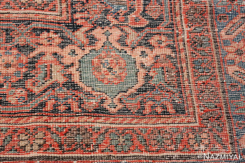 Antique Persian Farahan Carpet 50116 Woven Knots Nazmiyal