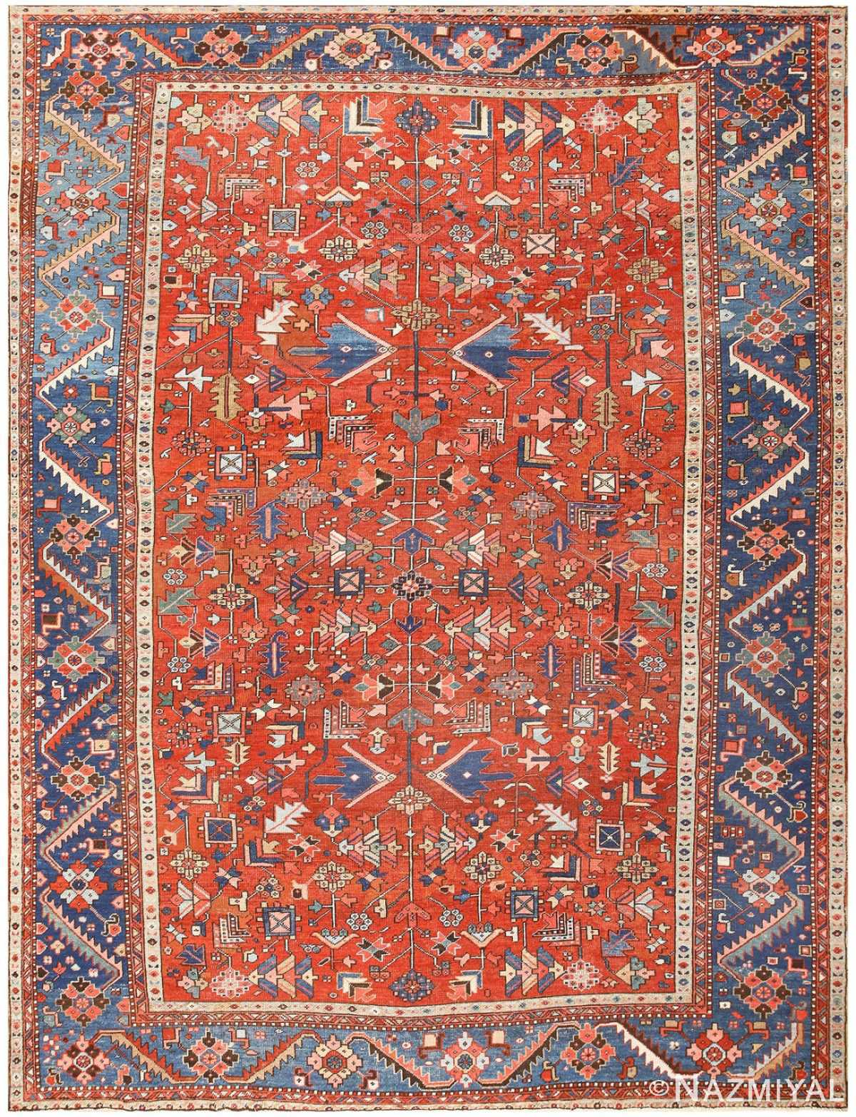 Antique Persian Heriz Rug 48466 Detail/Large View