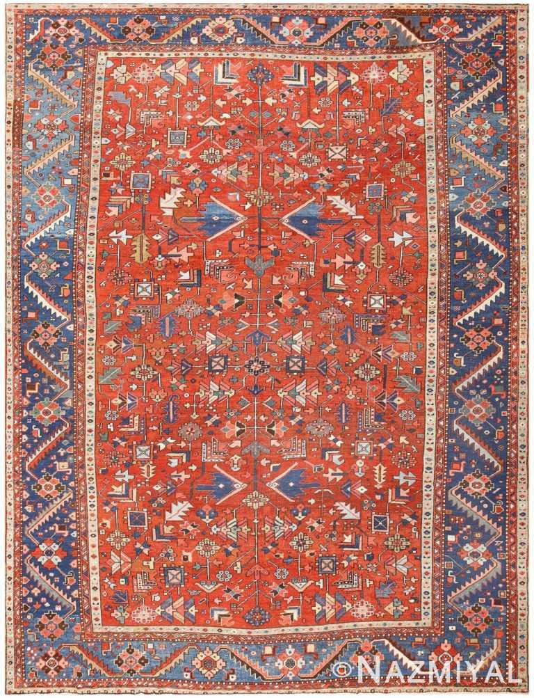 Antique Persian Heriz Rug 48466 Detail/Large View