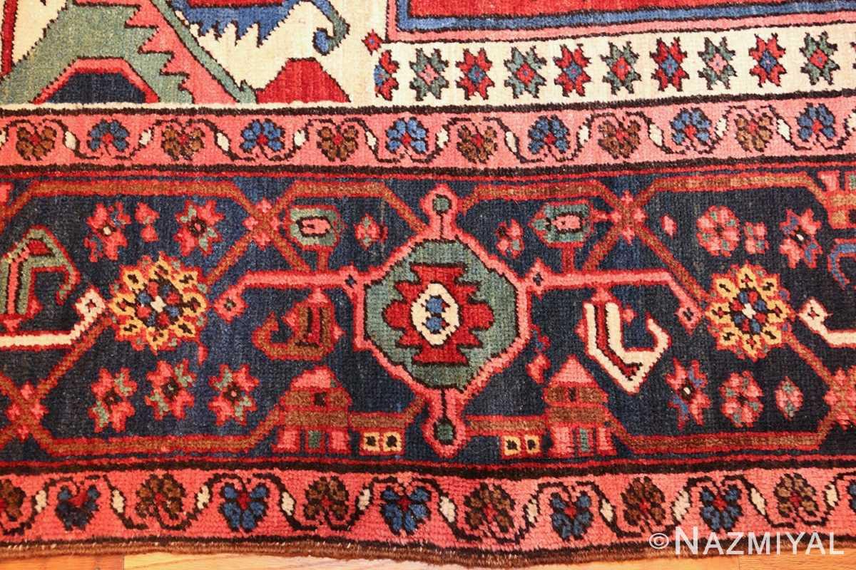 antique persian heriz rug 48468 border Nazmiyal