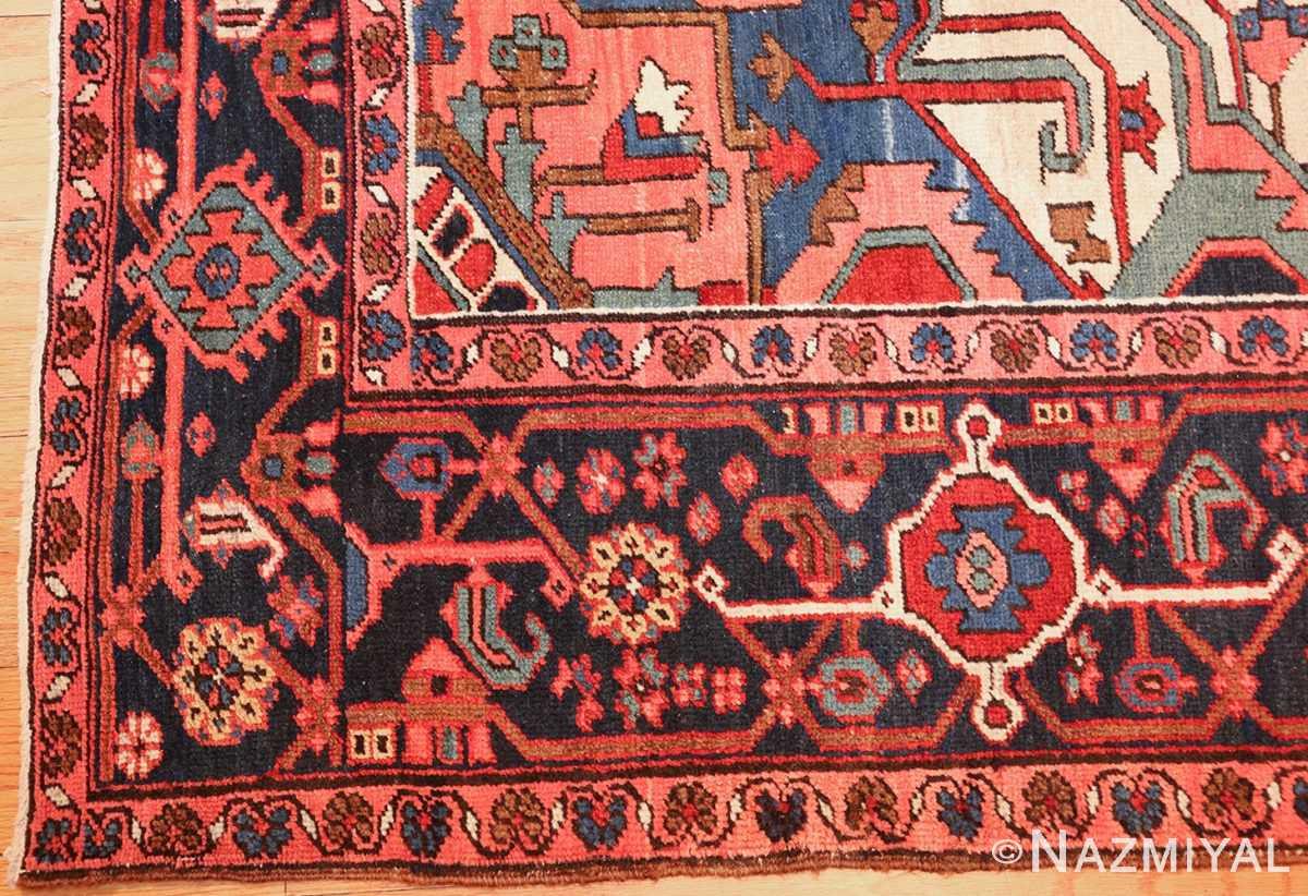 antique persian heriz rug 48468 corner Nazmiyal