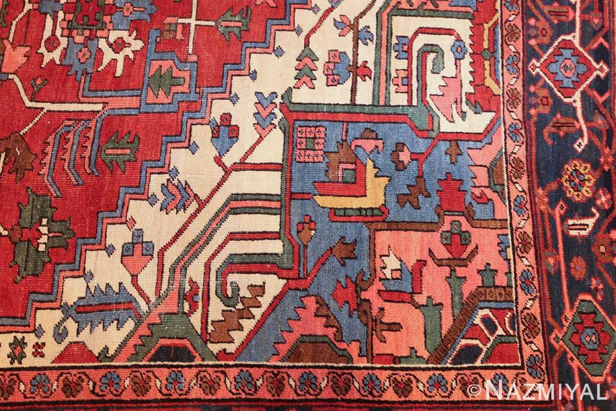 antique persian heriz rug 48468 design Nazmiyal