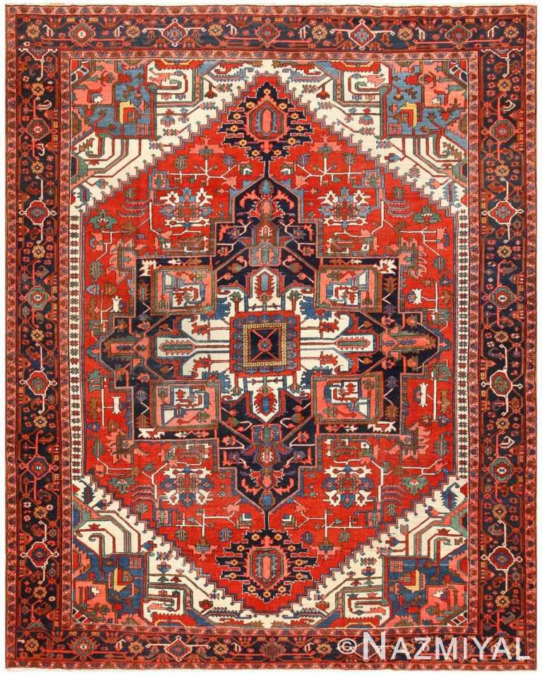 Antique Persian Heriz Rug 48468 Detail/Large View