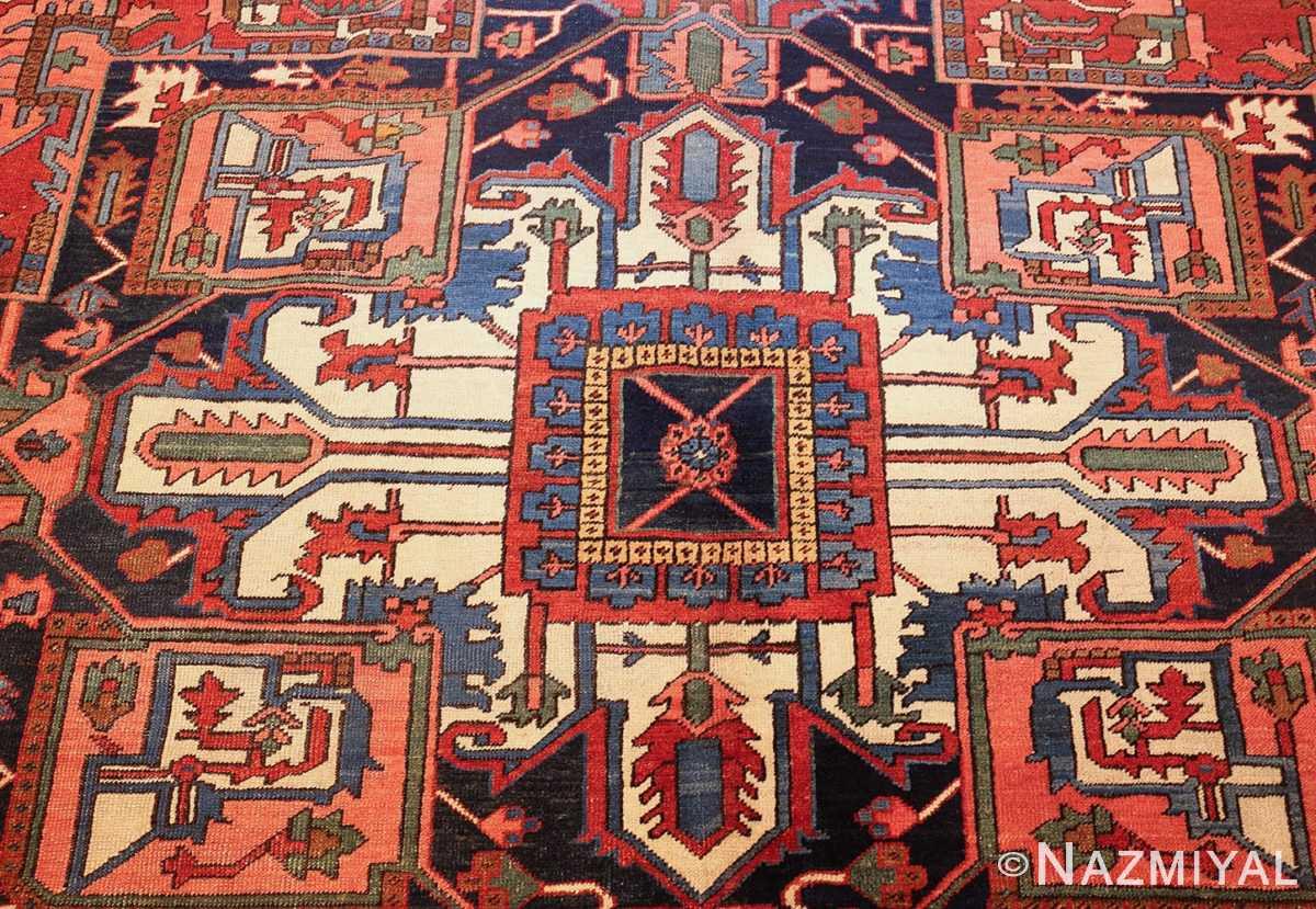 antique persian heriz rug 48468 medallion Nazmiyal