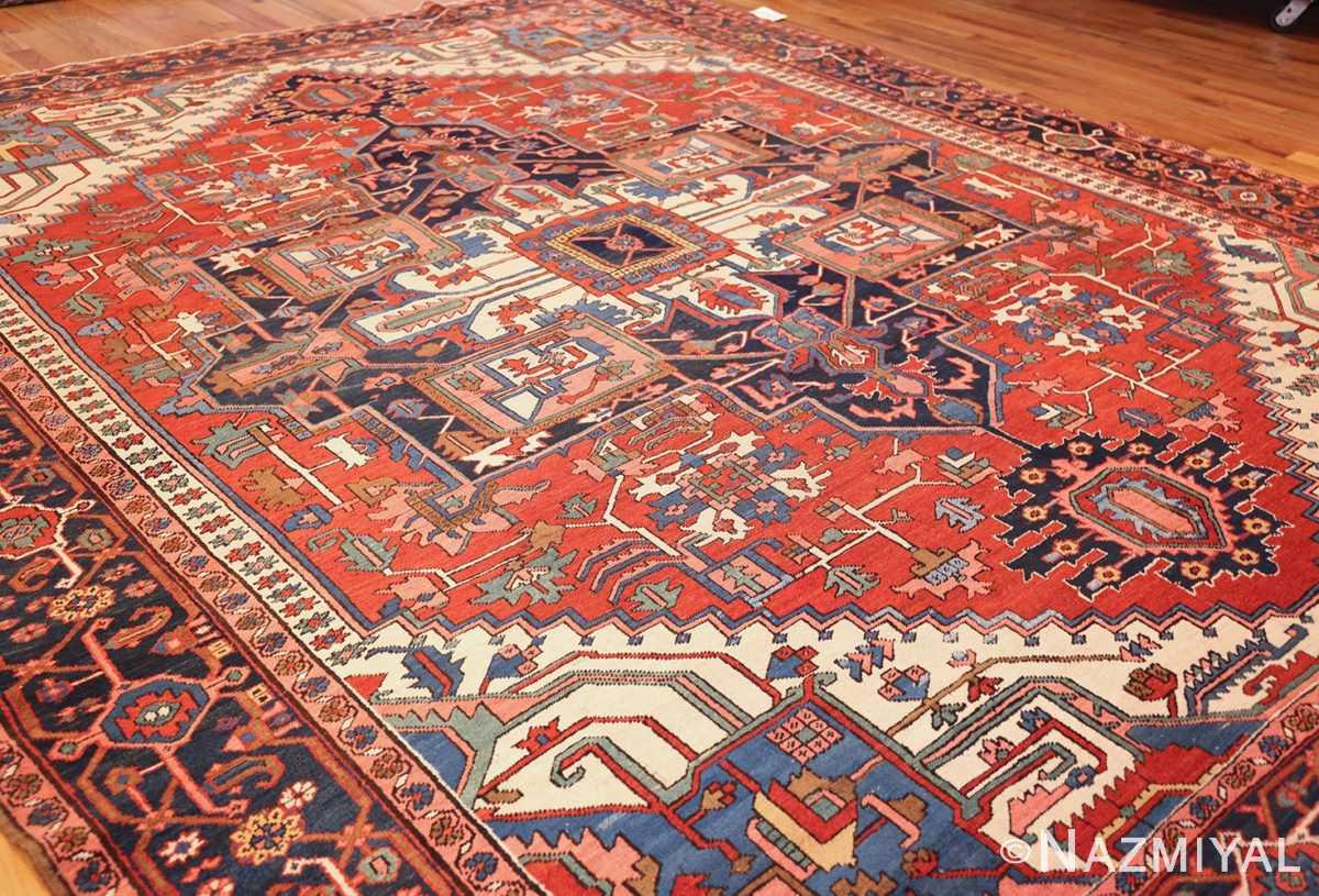 antique persian heriz rug 48468 side Nazmiyal
