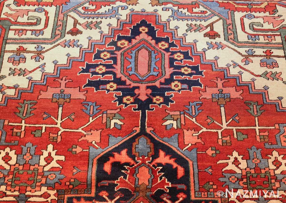 antique persian heriz rug 48468 top Nazmiyal