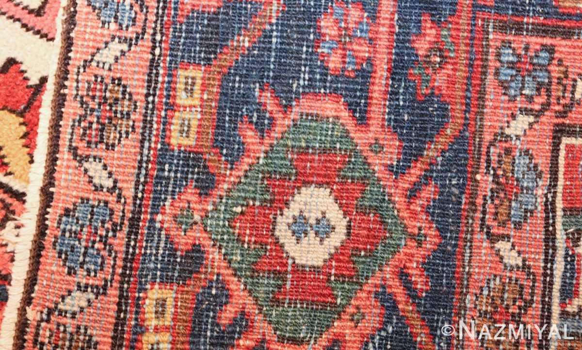 antique persian heriz rug 48468 weave Nazmiyal