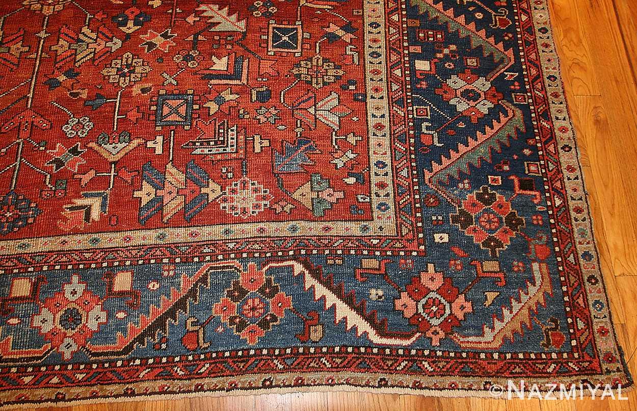 antique persian heriz serapi rug 48466 border Nazmiyal