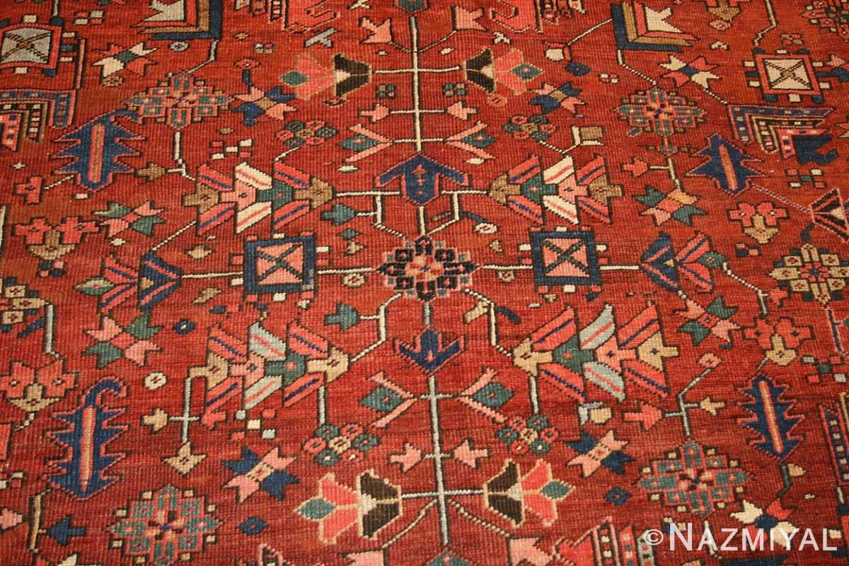 antique persian heriz serapi rug 48466 design Nazmiyal