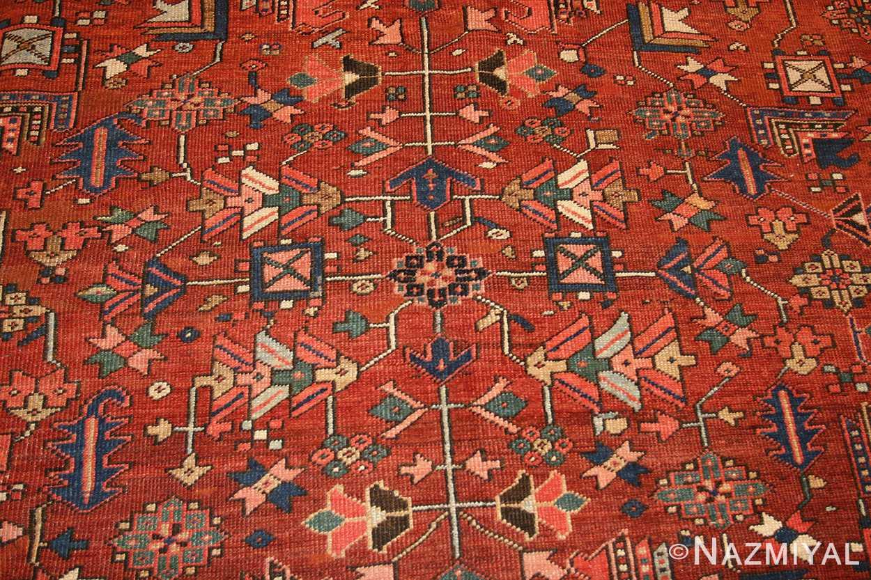 antique persian heriz serapi rug 48466 design Nazmiyal