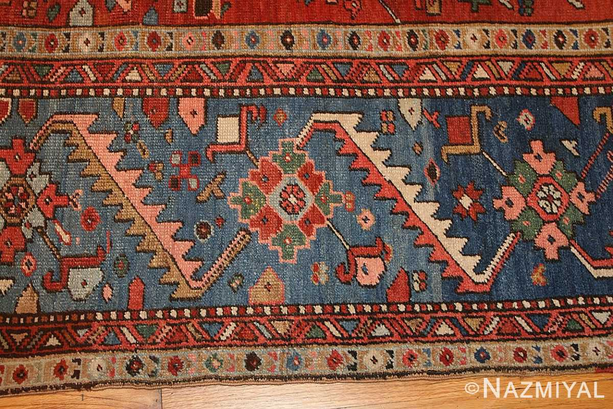 antique persian heriz serapi rug 48466 detail Nazmiyal