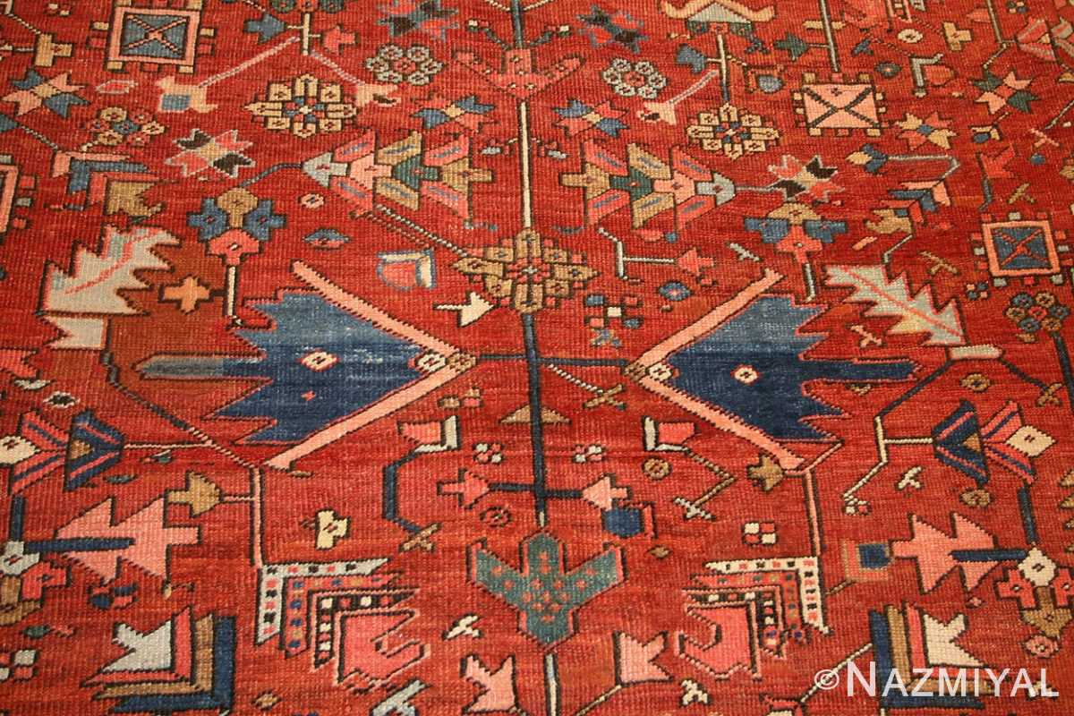 antique persian heriz serapi rug 48466 field Nazmiyal