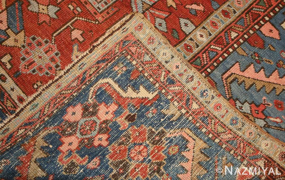 antique persian heriz serapi rug 48466 weave Nazmiyal