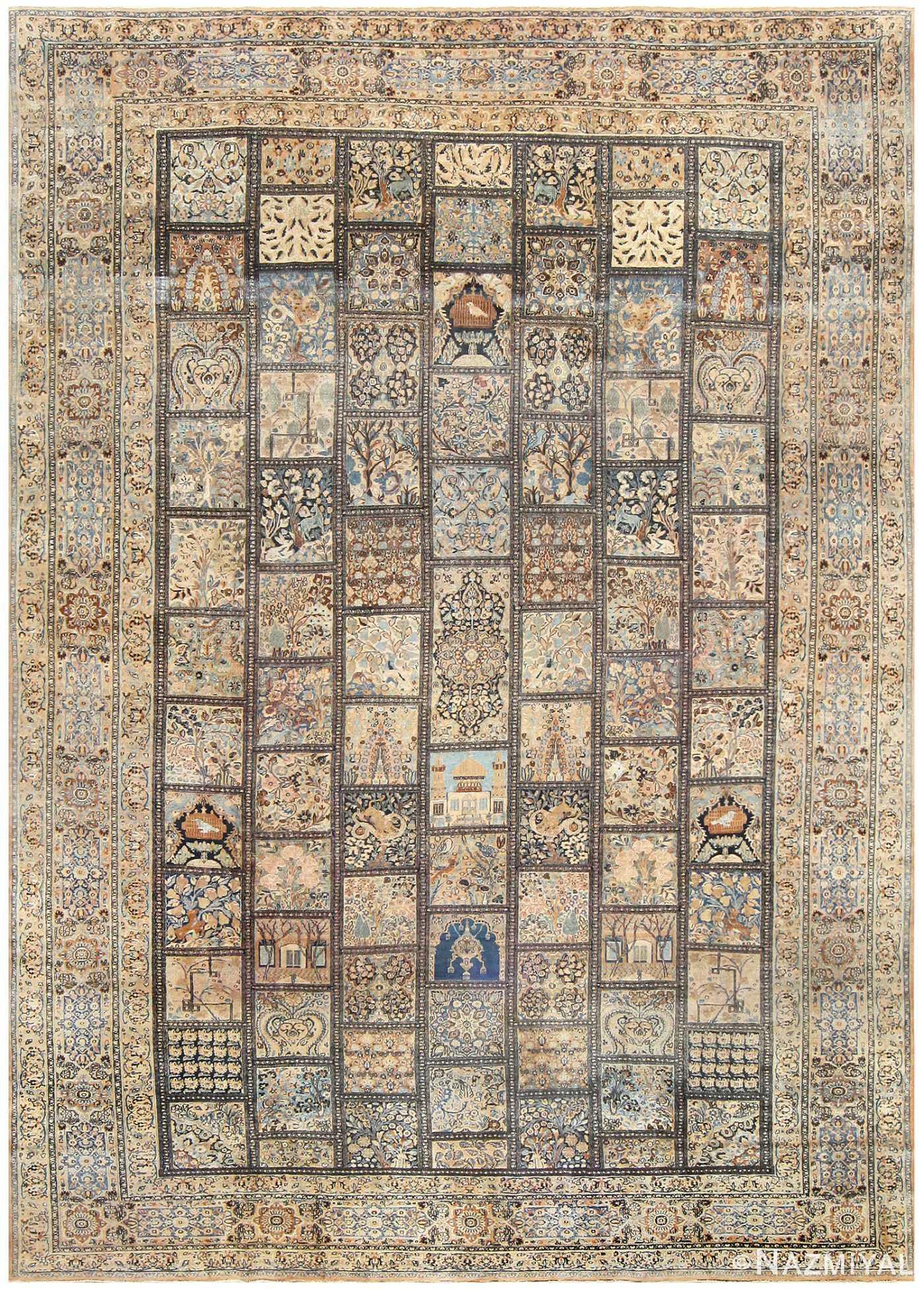 Antique Persian Khorassan Carpet 50134 Nazmiyal