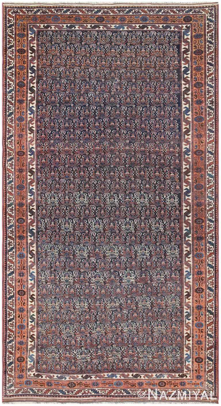 Blue Tribal Antique Persian Afshar Room Size Area Rug #50186 by Nazmiyal Antique Rugs