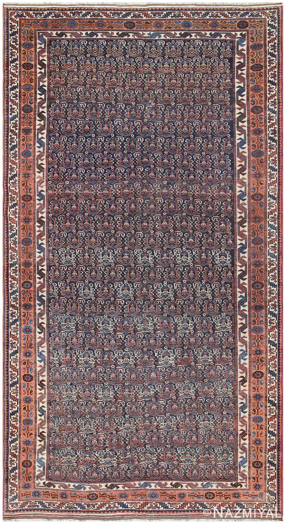 Blue Tribal Antique Persian Malayer Rug 50186 by nazmiyal