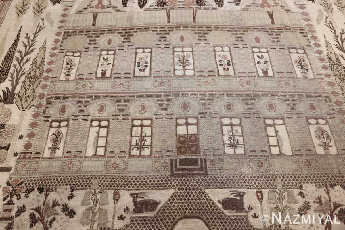 antique persian palace scene tabriz rug 50074 mansion Nazmiyal