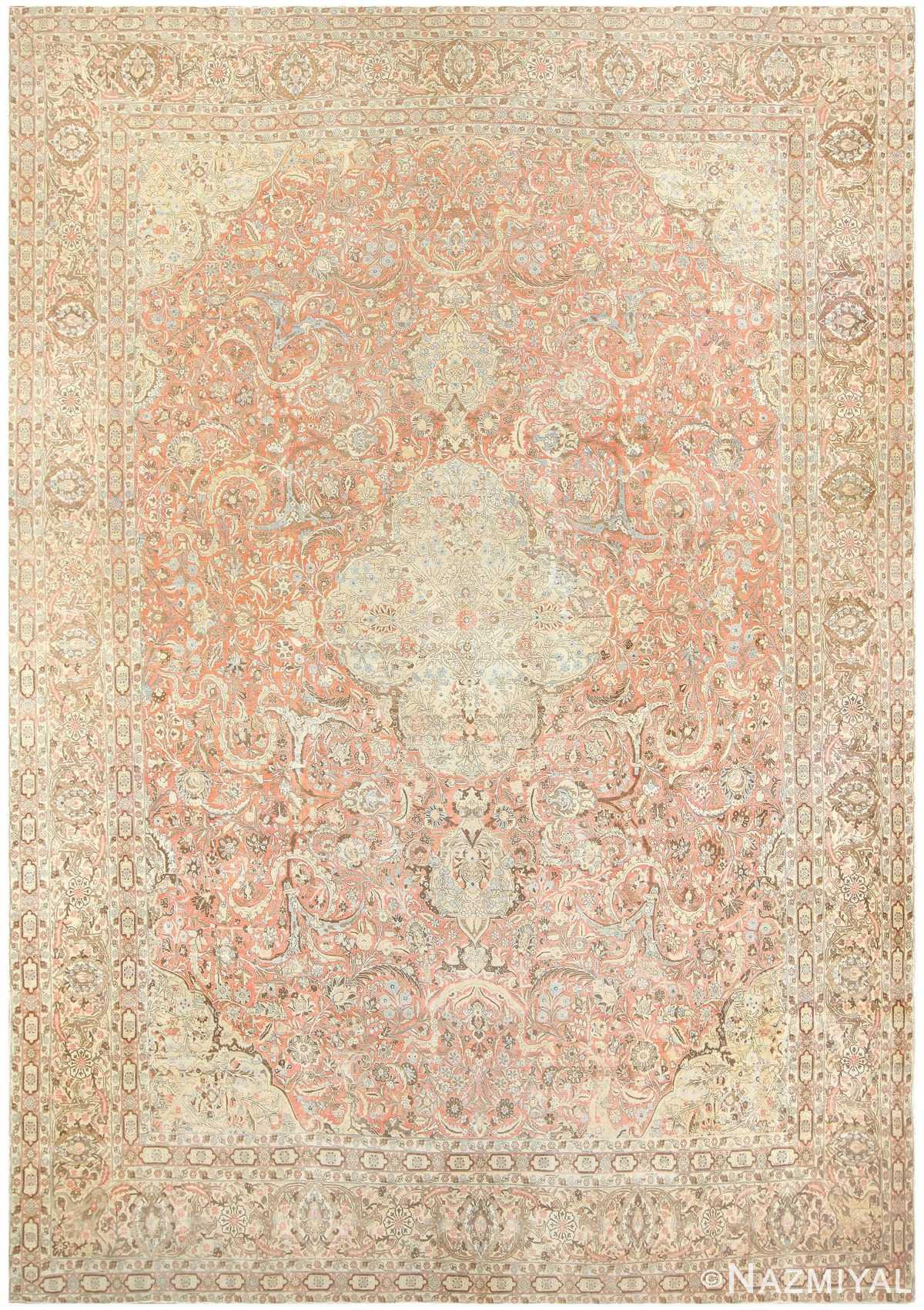 Antique Persian Tabriz Carpet 50111 Nazmiyal