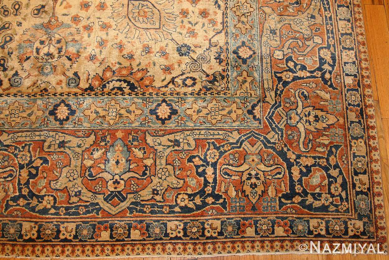 antique persian tabriz rug 50176 border Nazmiyal