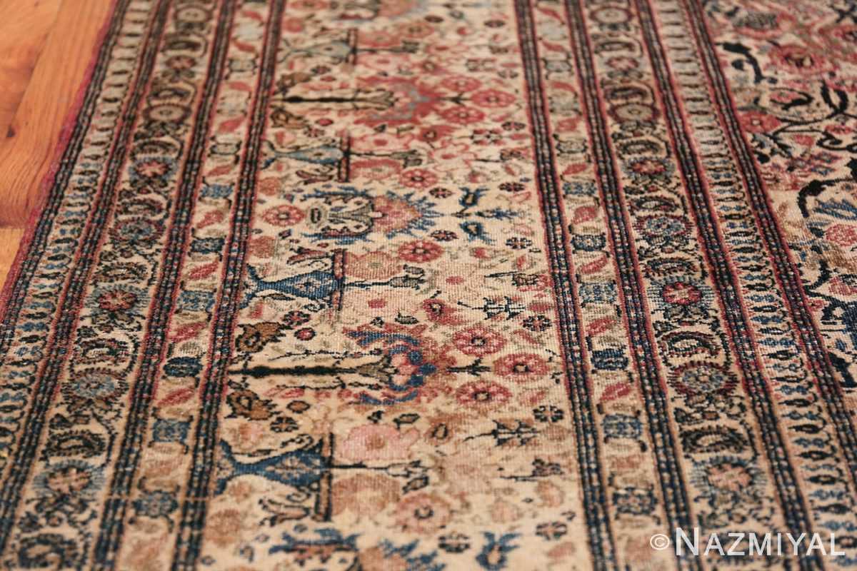 Antique Persian Tehran Carpet 50098 Border Design Nazmiyal