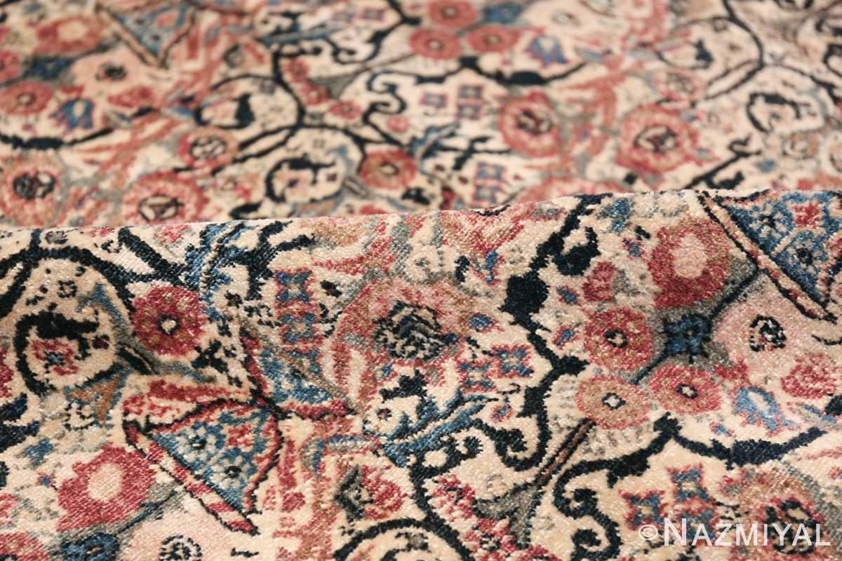 Antique Persian Tehran Carpet 50098 Floral Pile Nazmiyal
