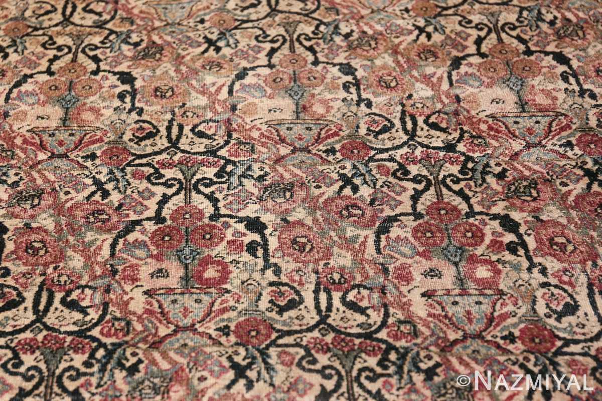 Antique Persian Tehran Carpet 50098 Scroll Pattern Nazmiyal