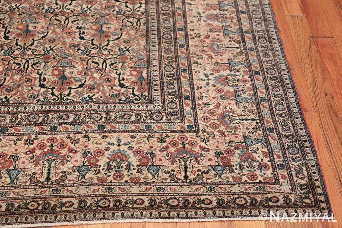 Antique Persian Tehran Carpet 50098 Side Corner Nazmiyal