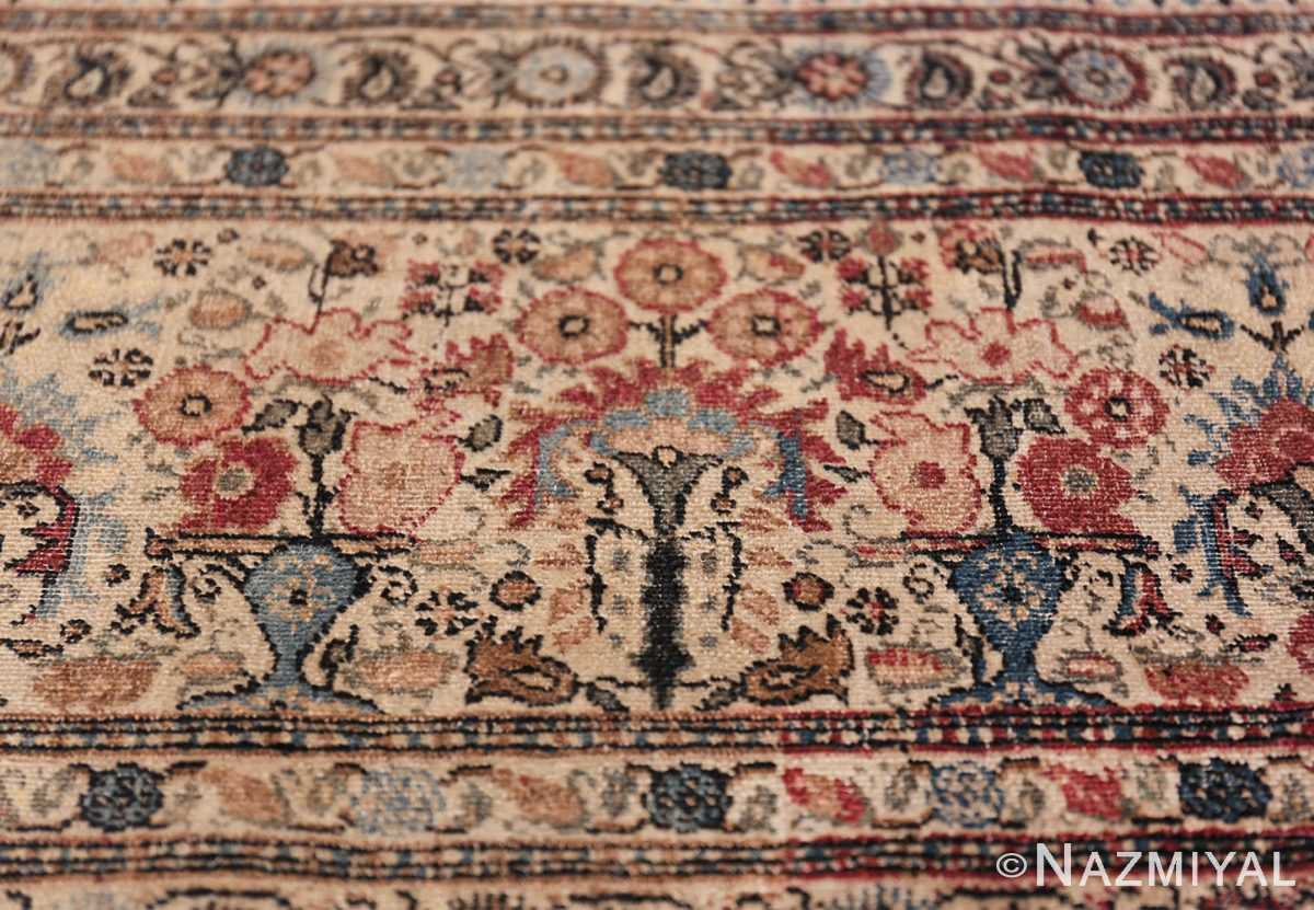 Antique Persian Tehran Carpet 50098 Vase on Border Nazmiyal