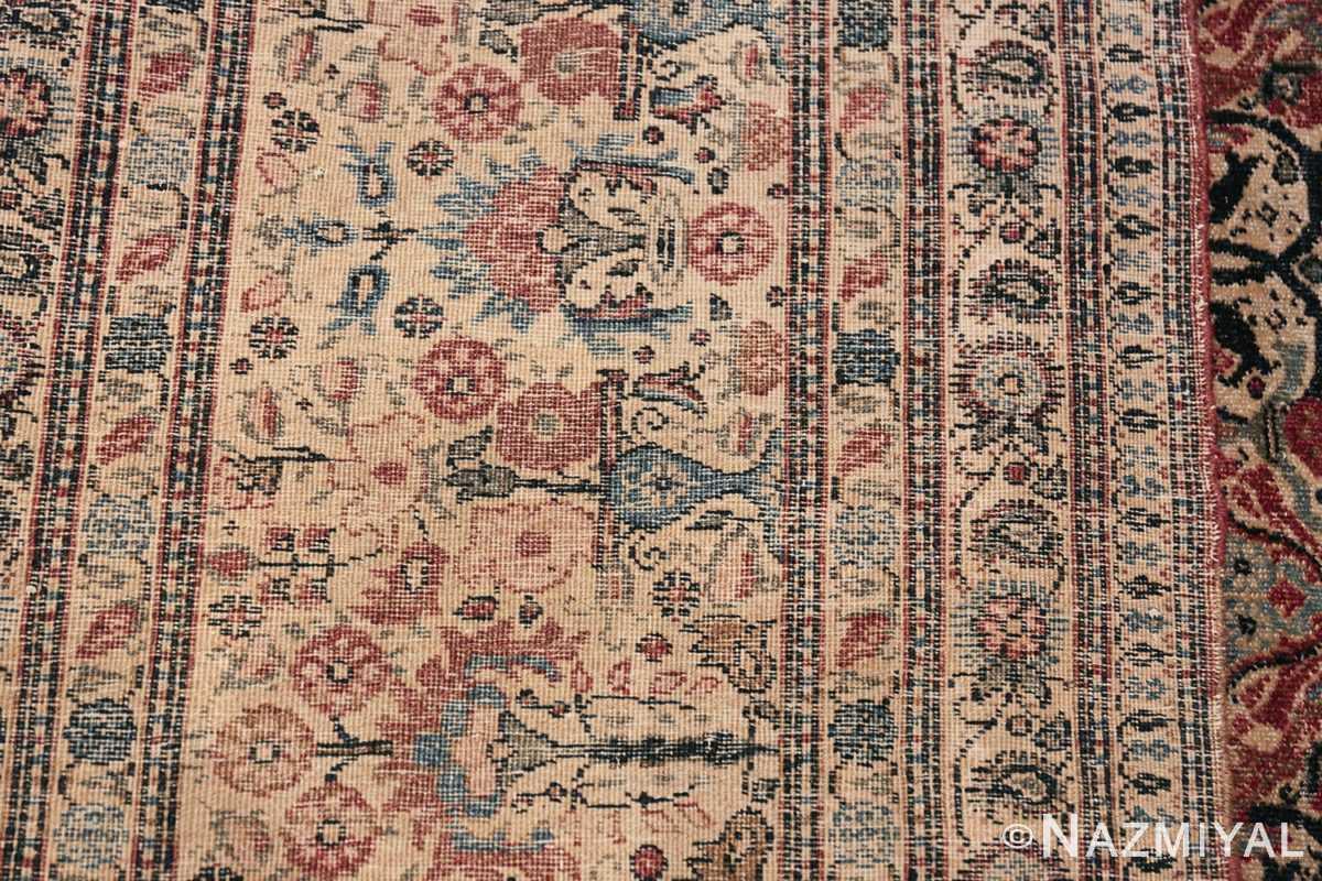 Antique Persian Tehran Carpet 50098 Woven Knots Nazmiyal